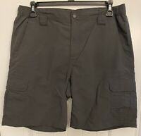 The North Face Cargo Hiking Casual Men's Nylon Shorts Size Large Gray