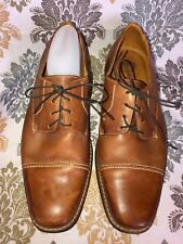 Sandro Moscoloni Men's Bryan Cap Toe Brown Leather Derby Shoes 17305 Size 10 EEE