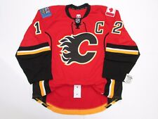 CALGARY FLAMES AUTHENTIC HOME ANY NAME   ANY NUMBER REEBOK EDGE 2.0 7287  JERSEY e3c22173e