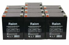 Raion Power 12V 5Ah UPS Battery For APC RBC118 - 10 Pack