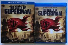 DC COMICS THE DEATH OF SUPERMAN BLU RAY DVD 2 DIC SET + SLIPCOVER SLEEVE BUY IT