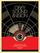 Obey Giant Shepard Fairey Print-Sound and Vision London volés Espace