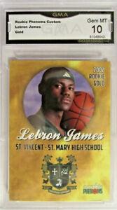 Lebron James 2002 Rookie Card. Rookie Phenomenal Custom Graded Perfect 10💎