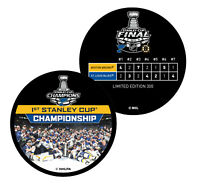 2019 St. Louis Blues 1st Stanley Cup Championship Hockey Puck TEAM CELEBRATION