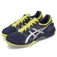 Asics Gel-Rocket 8 Indigo Blue Yellow Silver Men Volleyball Shoes B706Y-426