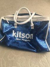 KITSON LOS ANGELES Blue White Sequin Duffle Bag