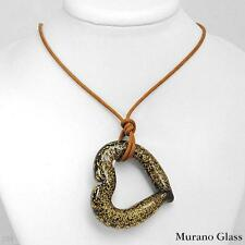 MURANO GLASS Italy Charming Necklace Beautifully Crafted in Two tone Gold and Si