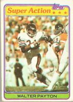 1981 Topps Football Super Action #202 Walter Payton Chicago Bears Card