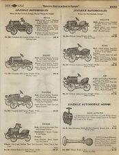 1923 Paper AD Toy Pedal Car Ace Stutz Reliance Hornet Mogul Courier