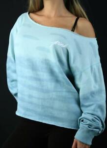 Victoria's Secret PINK Fleece Crew Sweatshirt Crop Strappy Tie Dye NWT