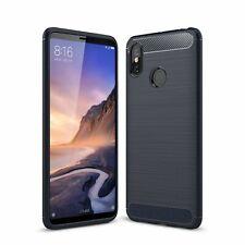 Xiaomi Mi Max 3 TPU Case Carbon Fiber Optik Brushed Schutz Hülle Cover Blau