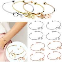Fashion Women Gold Silver Punk Cuff Bracelet Knot Bangle Chain Wristband Jewelry