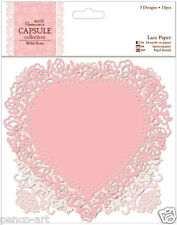 Papermania capsule collection Rose Sauvage scrapbooking dentelle papier formes