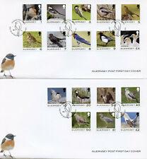 More details for guernsey definitives stamps 2021 fdc birds sparrows buzzards herons 17v set