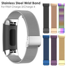 For Fitbit Charge 3 4 Strap Replacement Band Metal Stainless Steel Mesh Bracelet