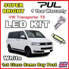 VW TRANSPORTER T5 - INTERIOR CAR LED LIGHT BULBS KIT - XENON WHITE