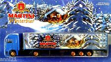 1) HO 1:87 MARTINI GERMAN BEER CHRISTMAS TRUCK MB AXOR X-MAS SEMI TRAILER 2002