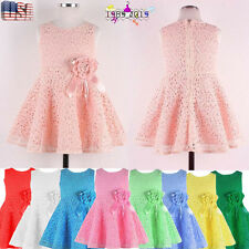 Baby Kid Girl Child Fall Skirts A-Line Sleeveless Floral Party Princess Dress US