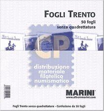 FOGLI TRENTO MARINI BIANCO SENZA QUADRETTATURA 140 gr confezione da 50 pezzi