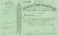 Rother Iron Works Company Limited > 188_ Unissued stock certificate share