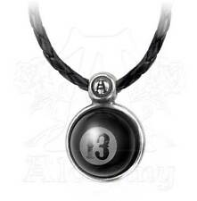 New Alchemy UL13 High Ball 13 Pendant Lether Thong Necklace Pewter ULP39