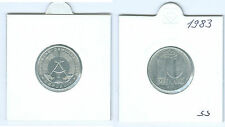 DDR  10 Pfennig 1983 A  sehr schön