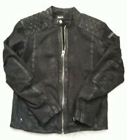 Tigha  Herren  Biker Lederjacke Nero Buffed Black Sheep Leather Size M UVP 299 €