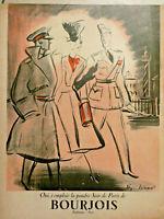 PUBLICITÉ DE PRESSE 1939 PARFUM BOURJOIS SOIR DE PARIS - Régis Manset