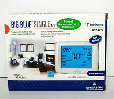 "White Rodgers 1F97-1277 Big Blue 12"" Touchscreen Thermostat Emerson Single Stage"