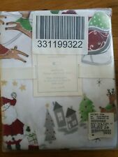 Pottery Barn baby kids  North Pole Flannel Fitted Crib Sheet Christmas Santa