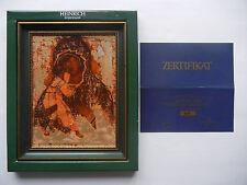Heinrich Ikone aus Porzellan Motiv 16: Maria Vladimirskaja mit OVP + Zertifikat