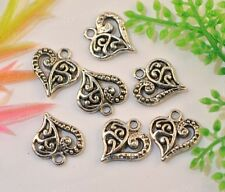 20pcs  Tibetan silver heart-shaped  pendant 14x13mm JK1008
