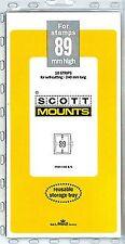Prinz Scott Stamp Mount 89/240 BLACK Background Pack of 10