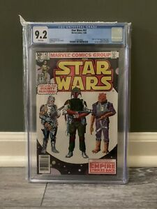 Marvel Comics Star Wars #42 1980 CGC 9.2 Newsstand White Pages Boba Fett