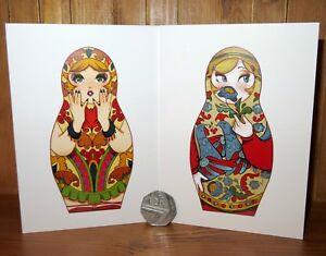 Northern Dvina Matryoshka DOLL Nesting Russian BIRTHDAY CARD Traditional Style