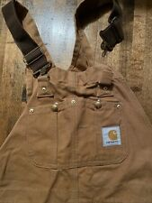 Vintage Carhartt Overalls Usa Union Made 34x30 Workwear Bibs