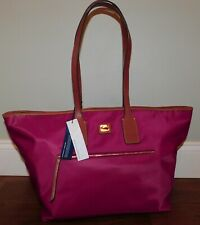 NEW DOONEY & BOURKE LARGE WAYFARER WINE NYLON TOTE PURSE HANDBAG OVERNIGHT CARRY