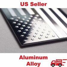 "(8 Pack) Aluminum US American Flag Sticker Decal | Auto Car Emblem | 3.15""x1.75"""