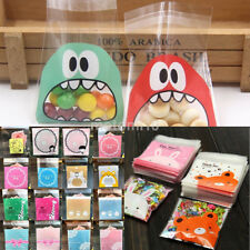 100PCS/Lot Cartoon Cookie Candy Jewelry Package Gift Bags Cellophane Birthday