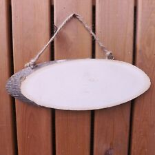 Natural Wooden Log Slice Wall Door Plaque Oval Hanging Sign Blank To Decorate