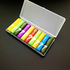 Portable plastic battery case cover holder storage box for 10pcs AAA BatteriesPD