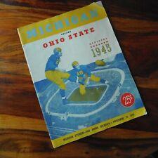 VINTAGE MICHIGAN VS. OHIO STATE FOOTBALL PROGRAM / NOVEMBER 24,1945