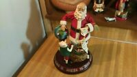 Clothtique Possible Dreams Musical Santa Clause,lights,music,works great,vg!