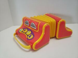 Vintage -The Wiggles Musical Singing Play Along Pretend Toy Accordion Accordian