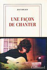 JEAN ROUAUD Une façon de chanter + PARIS POSTER GUIDE