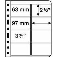 Kunststoffhüllen VARIO 4VC, 8er-Einteilung, für Telefonkarten, klare Folie