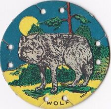 1930's M30 St. Louis Seal Craft Animal Series Disk Wolf #20