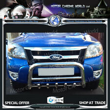 FORD Ranger Bull Bar Cromato Asse Spinta Griglia PUSH A-BAR 60mm 2011-2015 NUOVO