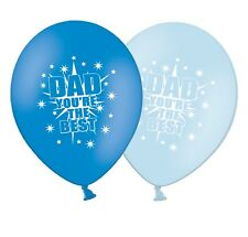 """Fathers Day - 12"""" Printed Latex Balloons Asst Pack of 5 - Dad You're The Best"""
