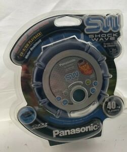 New Vintage Panasonic SL-SW950 Shockwave Portable CD Player Blue and White Retro